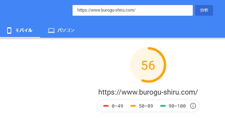 【アフィンガー5】モバイル表示速度スコアが30アップした3つの方法 0 ページスピードインサイトの改善後スコア
