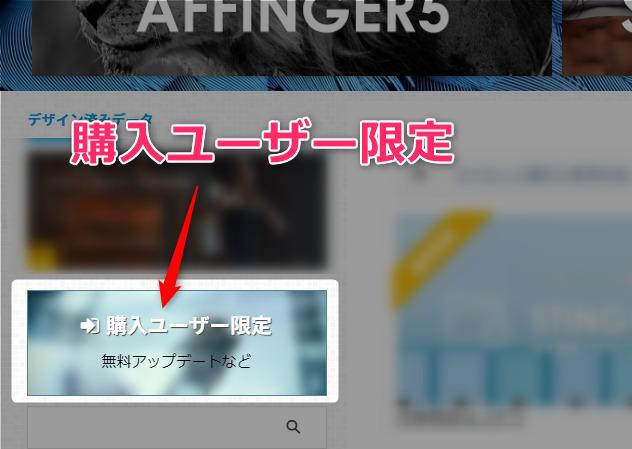 【AFFINGER6特典付】アップデート失敗w導入前に『必読』してね 01 STINGERSTOREへの登録